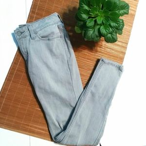 Levi Strauss 26 Gray Mid Rise Skinny Jeans
